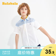 shirt Pink Blue 8002 Bala male 140cm 150cm 160cm 165cm 170cm 175cm summer Short sleeve leisure time other Pure cotton (100% cotton content) Lapel and pointed collar Cotton 100% Class B Summer 2020