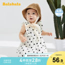 Dress female Bala 73cm 80cm 90cm 100cm Other 100% summer Korean version Long sleeves Dot other Splicing style Class A Summer 2020 12 months, 6 months, 9 months, 18 months, 2 years old Chinese Mainland