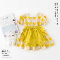 Dress female Other / other 73cm,80cm,90cm,100cm Cotton 95% other 5% summer Korean version Short sleeve love cotton A-line skirt Class A 3 months, 12 months, 6 months, 9 months, 18 months