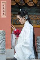 Custom made Hanfu White cross collar jacket (30 days delivery), white cross collar jacket in stock, Blue Cross collar jacket in stock, Tibetan Blue Cross collar jacket in stock M,S,L,XL Emperor Yao Hanfu