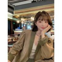 Fashion suit Spring 2021 XS,S,M,L,XL Caramel Khaki jacket, half skirt gold tea brown 25-35 years old YUMOMO STAR MW211010/MQ211002 51% (inclusive) - 70% (inclusive) cotton