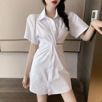 Lace / Chiffon Summer 2020 Black and white S M L Short sleeve commute Socket singleton  Self cultivation Medium length Solid color 18-24 years old Good core Korean version Other 100% Pure e-commerce (online only)
