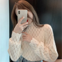 T-shirt Black apricot S M L XL Autumn 2020 Long sleeves stand collar Straight cylinder Regular routine commute other 96% and above 18-24 years old Korean version Solid color Good core XDH5760 Other 100% Pure e-commerce (online only)