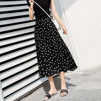 skirt Summer of 2019 longuette fresh High waist Pleated skirt other 25-29 years old Y767 91% (inclusive) - 95% (inclusive) Chiffon Other / other other zipper