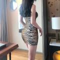 Dress Autumn 2020 khaki S,M,L Short skirt singleton  Sleeveless street High waist Animal design Socket One pace skirt other camisole 18-24 years old Europe and America
