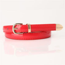 Belt / belt / chain Pu (artificial leather) White, black, red, gray, yellow, camel, lake blue, light purple, green, khaki, coffee, light pink female belt Simplicity Single loop Youth, youth, middle age, old age Pin buckle Geometric pattern Patent leather 1.4cm alloy Jelly texture