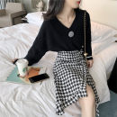Women's large Winter 2020 Black top + black skirt black sweater skirt S M L XL DS1G65SD1654DS165SD Limushi Other 100%