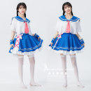 Cosplay women's wear skirt goods in stock Over 14 years old Frog blowing plum rain clothes comic Average size Lovely wind, Yu Jie fan, otaku department, campus wind