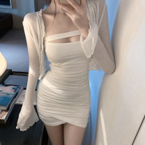 Fashion suit Summer 2020 S, M Cardigan, skirt 18-25 years old 228#