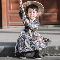 Tang costume Picture color, dragon dance plus velvet, dragon dance + bamboo hat 90 spot, 100 spot, 110 spot, 120 spot, 130 (spot), 140 spot, 150 (spot) Cotton 100% male spring and autumn There are models in the real shooting routine Tonghuawu Pure cotton (95% and above) Class B Broken flowers