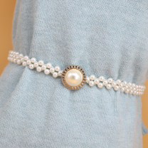 Belt / belt / chain Metal Rose style, diamond style, snowflake style, big Pearl bow style, golden big butterfly style, big gem style, big Pearl style, double circle style, diamond bow style, double butterfly style, double pearl bow style female Waist chain Sweet Single loop a hook Diamond inlay 2cm
