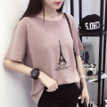 T-shirt White, green, black, leather powder M,L,XL Summer 2017 Short sleeve Crew neck easy Regular routine commute cotton 96% and above 18-24 years old Korean version youth Cartoon animation YXJX11661 Printing, splicing