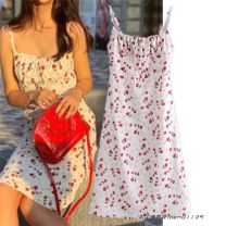 Dress Summer 2021 white S,M,L singleton  Sleeveless street camisole printing 659- Europe and America