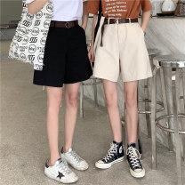 Casual pants Apricot, white, black S,M,L,XL Summer 2021 Pant Wide leg pants High waist Versatile routine 18-24 years old 31% (inclusive) - 50% (inclusive) J0325 cotton polyester fiber