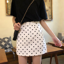 skirt Summer of 2019 S,M,L Black dot, white dot Short skirt Versatile High waist A-line skirt Dot Type A 18-24 years old 91% (inclusive) - 95% (inclusive) other other
