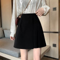 skirt Spring 2021 S,M,L black Short skirt Versatile Natural waist A-line skirt Solid color Type A 18-24 years old J0314 31% (inclusive) - 50% (inclusive) polyester fiber