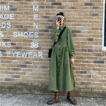 Dress Autumn 2020 Blue, green M Mid length dress other Long sleeves commute Crew neck Loose waist Solid color other other routine Others 18-24 years old Type A Korean version l0913 31% (inclusive) - 50% (inclusive) other polyester fiber