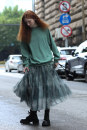 skirt Autumn 2020 S M L Green smoke Mid length dress commute High waist Irregular other Type A 25-29 years old More than 95% other Flowers, trees and fruits polyester fiber Simplicity Polyethylene terephthalate (polyester) 100% Pure e-commerce (online only)