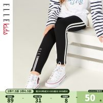 trousers elle kids female 110cm 120cm 130cm 140cm 150cm 160cm Dark grey Navy spring and autumn trousers leisure time There are models in the real shooting Leggings Leather belt middle-waisted other Don't open the crotch Cotton 95% polyurethane elastic fiber (spandex) 5% EKB309029 Class B