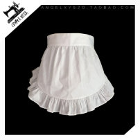 apron White with waist length: 35cm, pure black with waist length: 35cm, lace pocket customization (color matching notes) Sleeveless apron Japanese  pure cotton Cooking / baking / barbecue Average size Angel wish public yes
