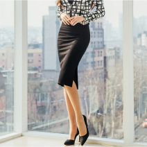 skirt Spring of 2019 XS S M L XL 2XL 3XL White, black, red Middle-skirt commute Natural waist A-line skirt Solid color Type A 25-29 years old 20181219-145 Looking forward to the princess Ol style Pure e-commerce (online only)