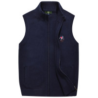 Vest / vest Youth fashion ZHAN DI JI PU M,L,XL,2XL,3XL 0709 dark blue, 0709 light grey, 0709 dark grey, 0709 baby blue Other leisure standard Vest routine autumn stand collar youth 2018 Simplicity in Europe and America Solid color zipper Rib hem other No iron treatment badge nothing Side seam pocket