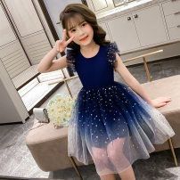 Children's performance clothes Navy, Burgundy female 110cm,120cm,130cm,140cm,150cm,160cm Other / other Class B other Polyester 100% Korean version