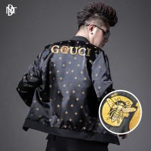 Jacket NC / Nachuan Youth fashion black M,L,XL,XXL,XXXL,XXXXL ordinary Syncytial type Other leisure autumn w203062 Long sleeves Wear out stand collar routine Regular sleeve Embroidery Side seam pocket