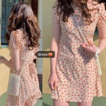 Dress Summer 2021 Picture color, white sling 009 M,L,XL,2XL Other / other