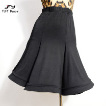 Latin bottom female S,M,L,XL,140,150 Black skirt and panties, leopard skirt and panties Big skirt See Fanyu again Rumba, Chacha, samba, cowboy, bullfight Cotton polyester BY25B