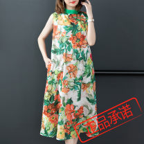 Dress Spring 2020 Picture color M,L,XL,2XL Miniskirt singleton  Sleeveless commute stand collar routine Type A Retro pocket