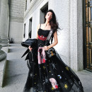 Dress Spring 2021 Dark spot XS,S,M,L longuette singleton  Sleeveless Sweet V-neck High waist Broken flowers zipper A-line skirt camisole 25-29 years old Type A Aviva On Earth Pleating, backless, embroidery, chain, pleating, beading, 3D, zipper, lace, stitching More than 95% other polyester fiber