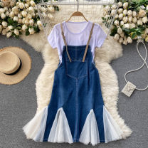 Fashion suit Spring 2021 Average size Apricot mesh, white mesh 18-25 years old 31% (inclusive) - 50% (inclusive)