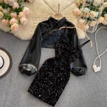 Fashion suit Autumn 2020 M, L black 18-25 years old 31% (inclusive) - 50% (inclusive)