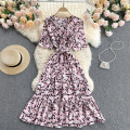 Dress Summer 2021 Average size Middle-skirt singleton  Short sleeve commute V-neck High waist Decor Socket A-line skirt routine camisole 18-24 years old Type A Korean version 31% (inclusive) - 50% (inclusive) other other