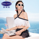 Split swimsuit An Lifang White CRM M L Skirt split swimsuit With chest pad without steel support Nylon spandex ES0975 Spring of 2019 yes ES0975 Sleeveless