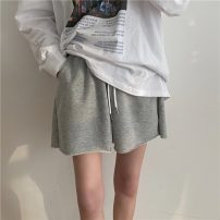 Casual pants Gray, white, black S,M,L Spring 2021 shorts High waist commute routine 18-24 years old 0303M Other / other Retro