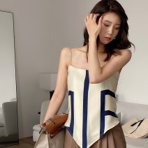 Vest sling Spring 2021 Apricot, yellow Average size singleton  have cash less than that is registered in the accounts Self cultivation Versatile camisole Solid color 18-24 years old 31% (inclusive) - 50% (inclusive) polyester fiber 0316+ Other / other printing