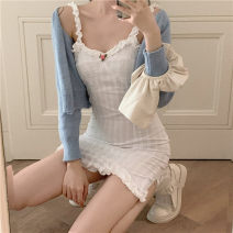 Fashion suit Summer 2020 Average size White dress s, white dress m, blue cardigan 18-25 years old Other / other