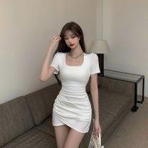 Dress Summer 2021 Grey, white Average size 6095#