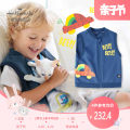 Vest male Denim blue Hallmark spring and autumn routine No model zipper leisure time Pure cotton (100% content) other Cotton 100% Class A 3 months 6 months 12 months 9 months 18 months 2 years 3 years 4 years 5 years 6 years 7 years 8 years old