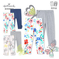 trousers Hallmark female 80cm 90cm 100cm 110cm 120cm 130cm Grey blue Beige flower pattern Leggings other Don't open the crotch Modal fiber (modal) 45% cotton 45% polyurethane elastic fiber (spandex) 10% HH1K0607KG Class A HH1K0607KG