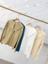 shirt Dark blue shirt, apricot shirt, white shirt, light yellow shirt Average size Autumn 2020 other 30% and below Long sleeves commute Regular Doll Collar Single row multi button routine Solid color 18-24 years old Straight cylinder Other / other Korean version FCXH811869