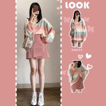Fashion suit Spring 2020 S M L XL Pink top + pink skirt top [single piece] skirt [single piece] Han Feili A0805.3 96% and above Other 100% Pure e-commerce (online only)