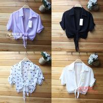 Lace / Chiffon Summer 2020 White, black, rose, violet, black star, white star S,M,L,XL,2XL Short sleeve Cardigan singleton  easy have cash less than that is registered in the accounts stand collar Bat sleeve 18-24 years old Other / other