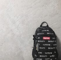 Backpack supreme White, black, red