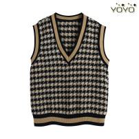 Wool knitwear Spring 2021 S,M,L Khaki black Sleeveless singleton  Socket other 31% (inclusive) - 50% (inclusive) Regular routine commute Straight cylinder V-neck routine Socket Splicing