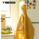 apron Classic apron yellow, classic apron cyan Sleeveless apron antifouling Japanese  pure cotton Average size BasShu public Retro style