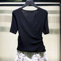 T-shirt 2 / s, 3 / m, 4 / L, 5 / XL, 6 / XXL Summer 2021 Short sleeve V-neck Self cultivation Regular routine commute other 71% (inclusive) - 85% (inclusive) Simplicity classic Solid color Pretend to be amashizheng