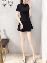 Fashion suit Summer 2020 S,M,L,XL,XXL Black short sleeve two-piece set, small size, suggest to take a bigger size. nylon